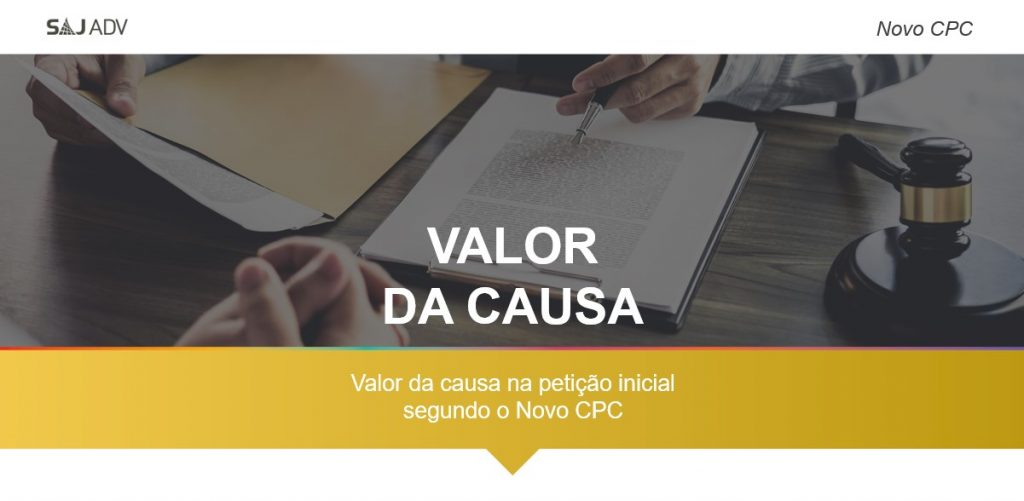 valor da causa no Novo CPC